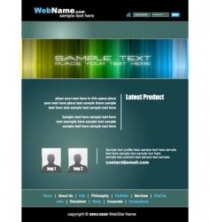 Futuristic web site vector