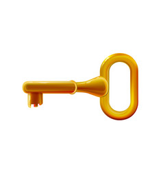 glossy golden key plastic toy rounded colorful vector image