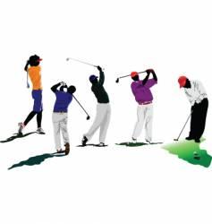 Golfers vector