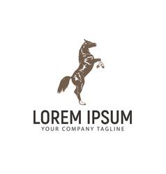 horse vintage logo design concept template vector image