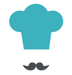 icon of chef cooking hat and mustache vector image