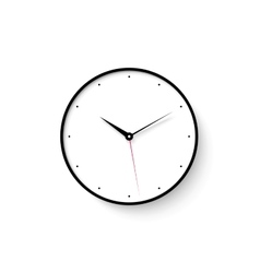 icon white clock face with shadow on wall vector image