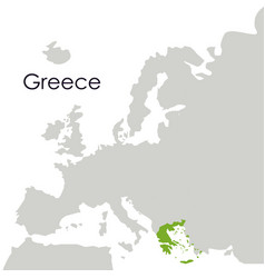 Isolated greece map design vector