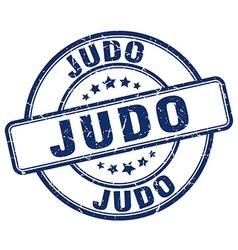 judo blue grunge round vintage rubber stamp vector image