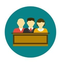 Jury icon flat vector