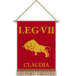 Legio vii claudia standard vector