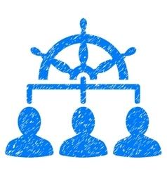 Management Steering Wheel Grainy Texture Icon vector image