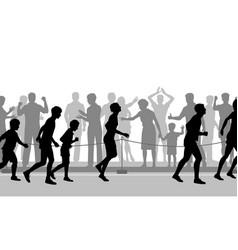 marathon encouragement vector image