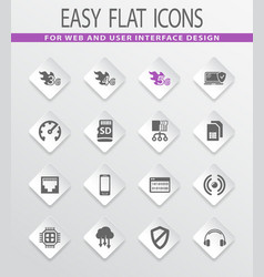mobile connection icons set vector image