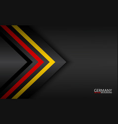 Modern colorful arrows with german colors vector