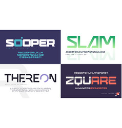 modern uppercase letter sets with a vector image