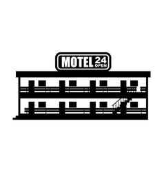 Motel icon small cheap hotel vector