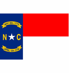 North carolina state flag vector