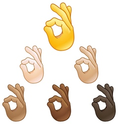 Ok hand sign emoji vector