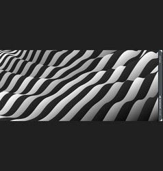 pattern optical black white background vector image