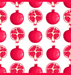 pattern with cartoon pomegranates isolated vector image