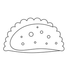 Patty icon outline style vector