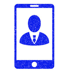 Phone customer profile grunge icon vector