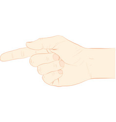 Point finger vector