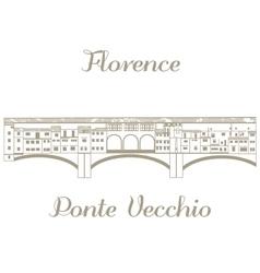 Ponte Vecchio vector image