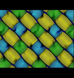 Print fabric texture weaved fiber ethnic pattern vector