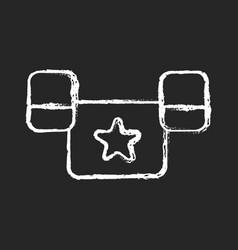 Puddle jumper chalk white icon on dark background vector