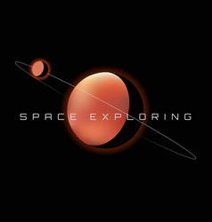 red planet in space mars vector image