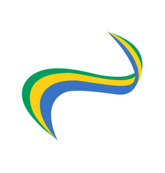 ribbon in the color of the flag of gabon vector image
