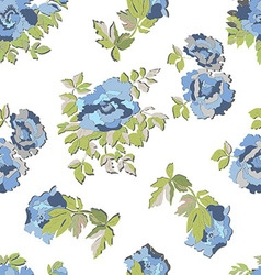 SEamless floral blue pattern vector