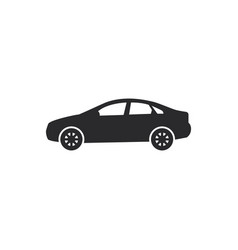 Sedan car icon in modern style for web site and vector