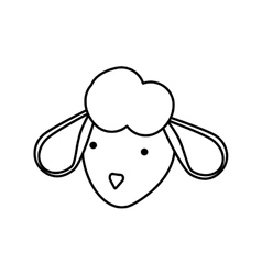 Sheep icon Cute animal design graphic vector