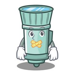 Silent flashlight cartoon character style vector