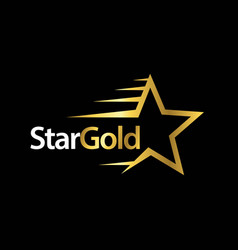 Star gold template design vector