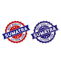 Sumatra island best quality stamp with distress vector