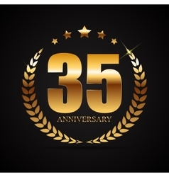 Template logo 35 years anniversary vector