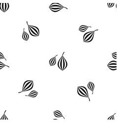 Trachyspermum ammi pattern seamless black vector