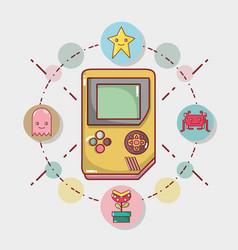 Videogame play game electronic simutalor vector