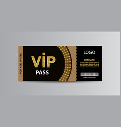 Vip admission ticket template vector
