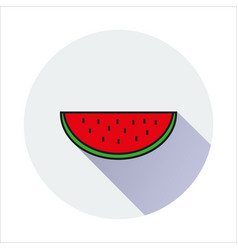 Water melon simple icon on white background vector