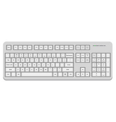 white computer qwerty keyboard isolated on white vector image