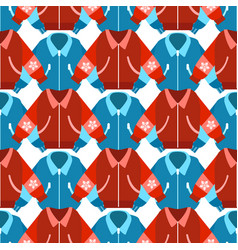 winter sport jackets seamless pattern vector image