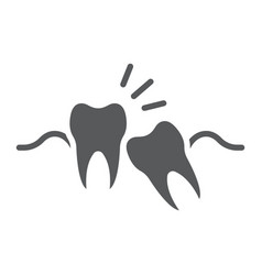 Wisdom teeth glyph icon stomatology vector