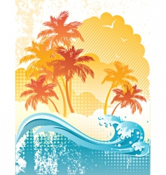 beach poster vector image vector image