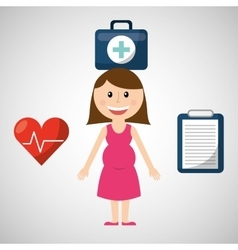 family healthcare design vector image vector image