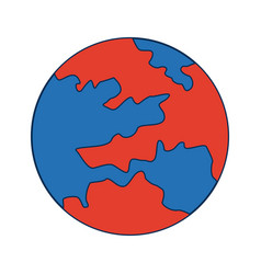 Map global world earth round icon vector