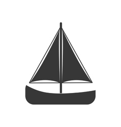 sailboat sea lifestyle nautical marine icon vector image vector image