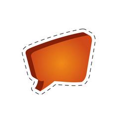 speech bubble speak cut line vector image vector image
