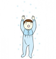 baby and snowflake vector image vector image