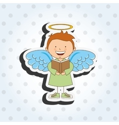 Cute angel design vector