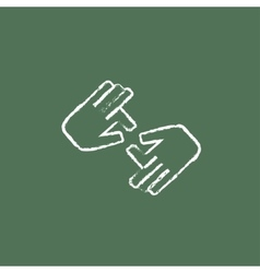 Finger language icon drawn in chalk vector image vector image